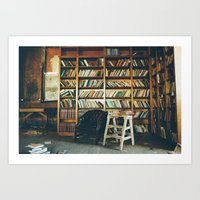 library Art Prints featuring Library by dekko