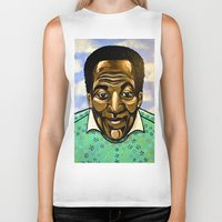 bill Biker Tanks featuring Bill Cosby by Portraits on the Periphery