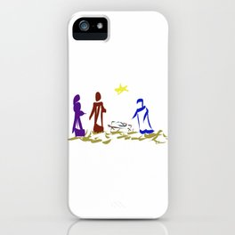 A King is Born in Bethlehem DP150903b iPhone Case