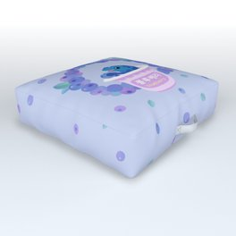Blueberry poison yogurt 2 Outdoor Floor Cushion