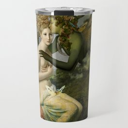 """The body, the soul and the garden of love"" Travel Mug"
