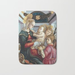 Botticelli Madonna and Child with Angels Bath Mat