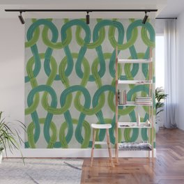 KNIT WIT LEAF with Concrete backround Wall Mural