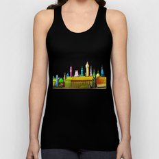 fabulous city painted Unisex Tank Top
