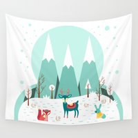 frozen Wall Tapestries featuring Frozen by General Design Studio