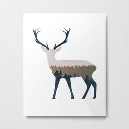 Forest Deer Metal Print