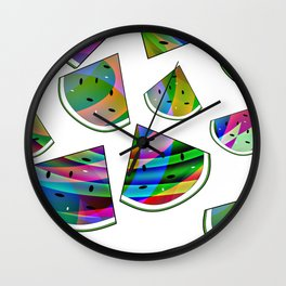 Colorful Watermelon Wall Clock