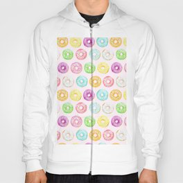 Watercolor pink sprinkle donuts Hoody