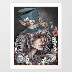 the Mad Hatter print Art Print