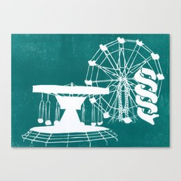 Seaside Fair in Turquoise Canvas Print