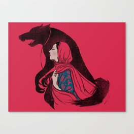 Taming of the wolf Canvas Print