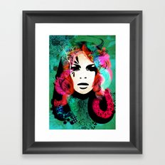 colorful hair Framed Art Print