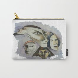 Strange Faces Carry-All Pouch
