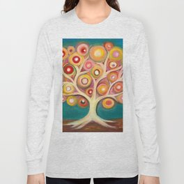 Tree of life with colorful abstract circles Long Sleeve T-shirt
