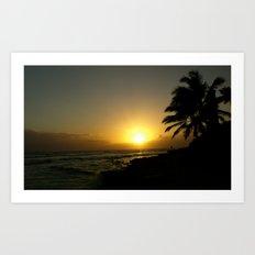 Hawaii Sunset Series Art Print