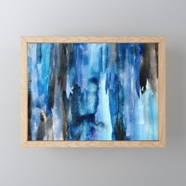 Deep Lapis Framed Mini Art Print