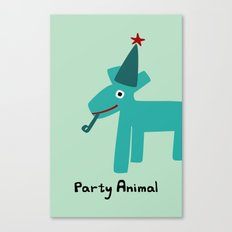 Party Animal-Teal Canvas Print