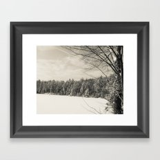 Peaceful Winter Snows  Framed Art Print