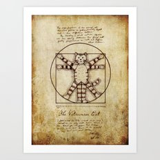 Vitruvian Cat Art Print