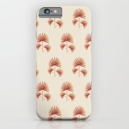 Fan Palm in Watercolor | Shades of Red iPhone Case