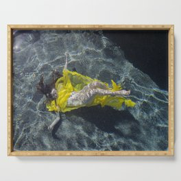 Woman Submerged Serving Tray