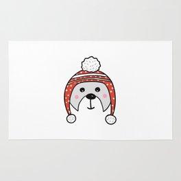 Christmas cute bear Rug