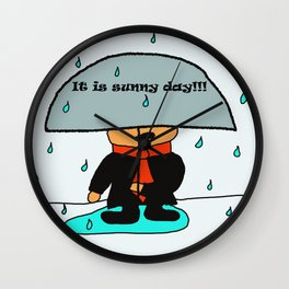It is sunny day by Lu Wall Clock