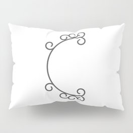 """Letter """"C"""" in beautiful design Fashion Modern Style Pillow Sham"""