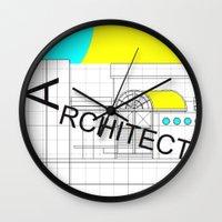 architect Wall Clocks featuring ARCHITECT-2 by Art-xigo
