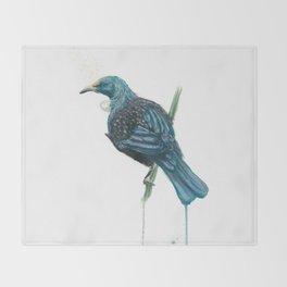 The Parson Bird aka Tui Throw Blanket
