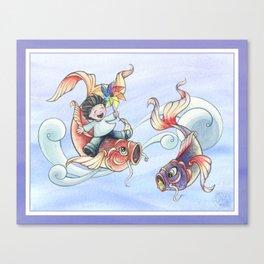 Koi nobori Canvas Print