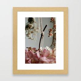 Hanging Time. Framed Art Print