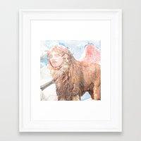 sphynx Framed Art Prints featuring sphynx by Ganech joe