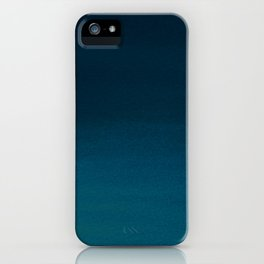 Hand painted navy blue green watercolor ombre brushstrokes iPhone Case