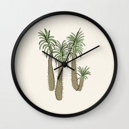 madagascar palm Wall Clock