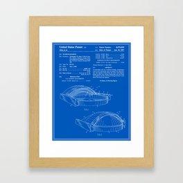 Stadium Patent - Blueprint Framed Art Print
