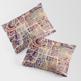 Kansas City Missouri City Map Pillow Sham