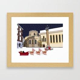 Santa at Temple Church Framed Art Print