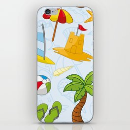 Summer pattern iPhone Skin
