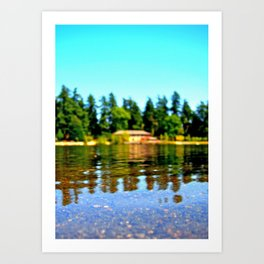 Lakeside summer Art Print