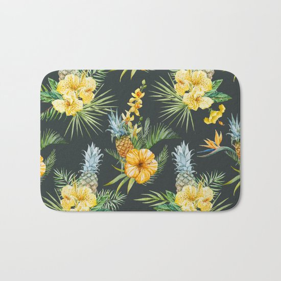 Pineapple Pattern 03 Bath Mat