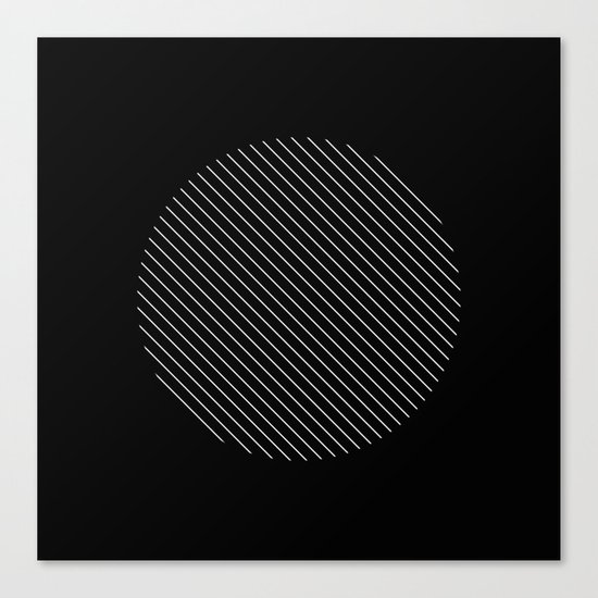 Tilt - Black and White Minimalism Abstract Canvas Print