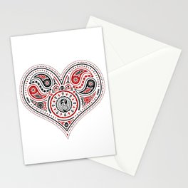 83 Drops - Hearts (Red & Black) Stationery Cards