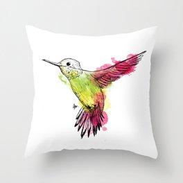 Flying colibri Throw Pillow
