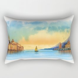 Italian landscape Rectangular Pillow