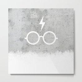 Harry P Concrete Metal Print