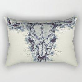 Polygonal Buffalo Skull Rectangular Pillow