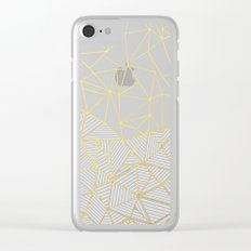 Ab Half and Half Grey Clear iPhone Case