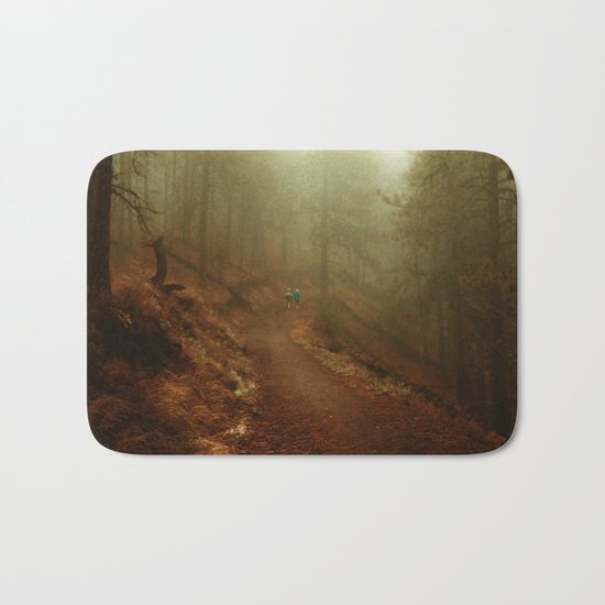 Autumn in Ponderosa Pines Forest Bath Mat