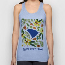 South Carolina + Florals Unisex Tank Top